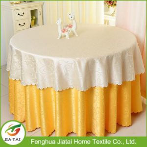 2017 Custom Printed Round Hotel Banquet Table Cloth pictures & photos