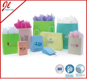Custom Luxury Promotional Bags Shopping Paper Bags with Handle pictures & photos
