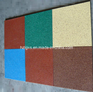 Colorful EPDM Granules Playground Rubber Flooring Tiles pictures & photos