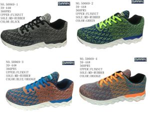 No. 50069 Four Colors Flyknit Men′s Sport Stock Shoes pictures & photos