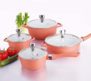 Europe Market Ceramic Coated Die-Casting Cookware Set pictures & photos