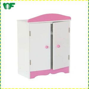 High Quality Cheap Custom Wooden Doll Wardrobe Shelf Rack Wardrobe pictures & photos