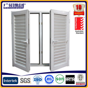 Aluminium Double-Hung Casement Shutter Window pictures & photos