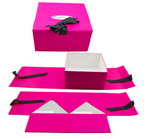 Rigid Cardboard Paper Folding Gift Box pictures & photos