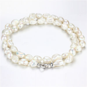 Snh 12mm AA Nucleated Fashion Cultured Pearl Necklace Jewelry