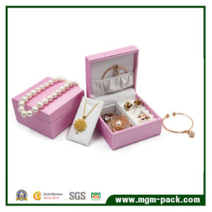 Custom Plastic Jewelry Box with PU Leather pictures & photos