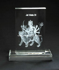 Maa Sherawali Crystal Plaque with Base for Hindu Souvenir pictures & photos