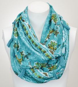 Attractive Fashion Ladies Polyester Silk Neck Warmer Infinity Chiffon Scarf