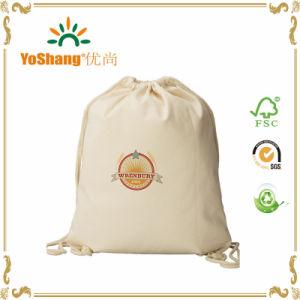 China Munufacture Cheap Promotional Duffle Canvas Jute Cotton Drawstring Bag pictures & photos