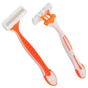 Triple Blade Disposable Shaving Razor Kl-306L pictures & photos