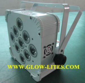 9*10W RGBWA 5in1 Battery Power & Wireless DMX PAR / LED Slim Flat Thin PAR Light