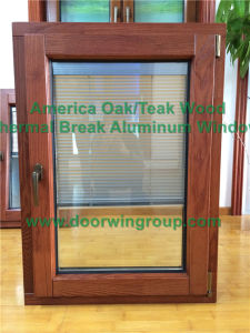 Solid Oak Wood Tilt Turn Casement Window with Toughened Glass, Aluminum Clad Solid Oak Wood Casement Window pictures & photos