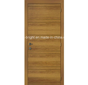 China simple design veneered flush door with groove for Door design with groove