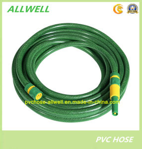 PVC Flexible Reinforced Fiber Braided Water Irrigation Garden Hose pictures & photos