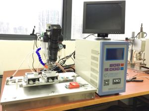 Dual Station Pulse Heat Soldering Machine with Flux Dispensing and CCD pictures & photos
