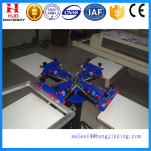 4color/4station Double Wheel Overprint Manual Screen Printing Machine pictures & photos