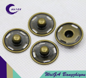 Metal Snap Four Buttons Gold Plating pictures & photos