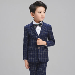 Baby Blazer/Child Gentleman Little Check Coat/Blazer Boys Jacket pictures & photos