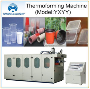 Plastic Cup Making Thermoforming Machine (YXYY750*500) pictures & photos