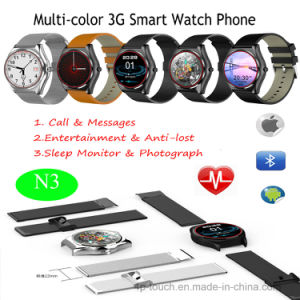 Multi-Color 3G Smart Watch Phone with Wireless Charge (N3) pictures & photos
