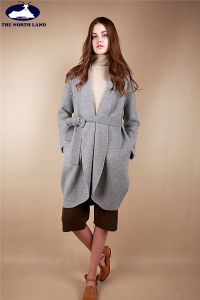 Cashmere Knitted Coat with Belt pictures & photos