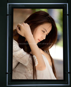 Hanging LED Slim Crystal Display Acrylic Light Box (CSH01-A3P-01) pictures & photos