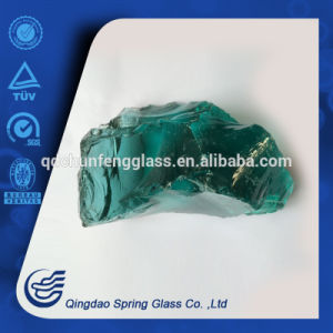 Irregular Shape Green Glass Stones pictures & photos