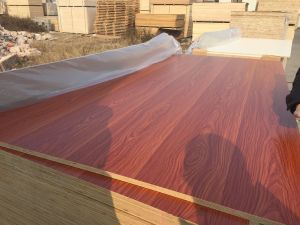 Poplar Core Melamine Plywood, Hardwood Core Melamine HDF Plywood pictures & photos