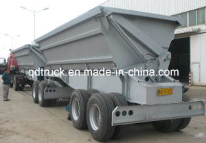 Dump semi side trailer, U shape tandem Dump Trailer pictures & photos