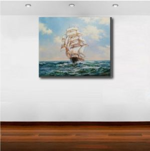Oil Painting of Sailing on Sea pictures & photos