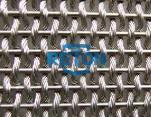 Stainless Steel Woven Wire Mesh Facade/Metal Mesh Scrren