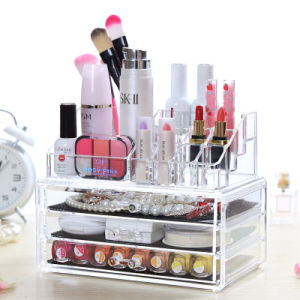 Hot Sale Eco-Friendly Acrylic Makeup Organizer with Drawers pictures & photos