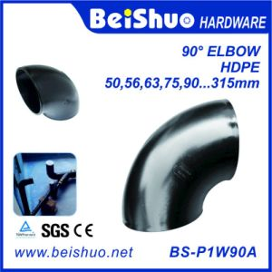 HDPE Plastic Tube Drain Sewer Pipe 90 Degree Elbow pictures & photos