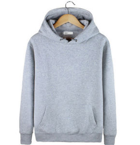 Mass Fashion Top Quality Cotton Plain Long Sleeves Women′s Hoodie with Pockets pictures & photos