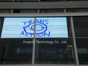 Windows Transparent LED Display for Shopping Mall Advertisement