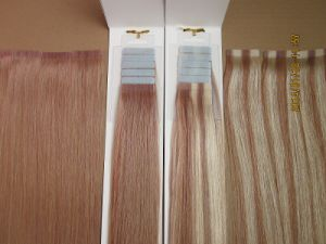 Brazilian Human Hair PU Skin Tape Weft Hair Extensions