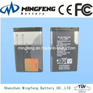 3.7V 1050mAh Cell Phone Battery Bl-5c for Nokia 1100 1000 1110 N72