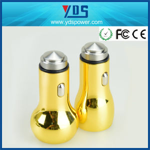 Fashionable 5V 2.4A Golden Dual USB Car Charger pictures & photos