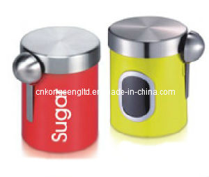 Canister with spoon