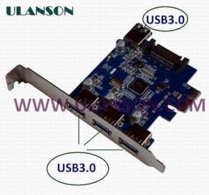 PCI-E USB3.0 Card External 3port and Internal 1port
