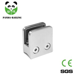 Stainless Steel Railing Glass Fitting/ Balustrade Glass Clip / Square Glass Clamp with Baffle pictures & photos