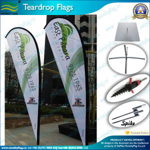 Standard Durable Outdoor Teardrop Flags and Beach Feather Flags (J-NF04F06055) pictures & photos