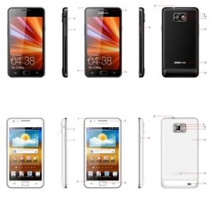 I9100 Mtk6577 Andorid 4.0 Capacitive Touch Screen Mobile Phone