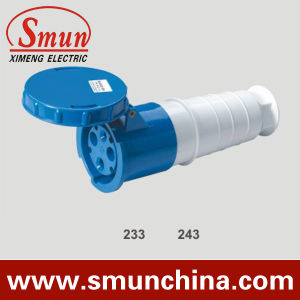 63A 125A Blue 3pin Mobile Socket, Cee Industrial Socket IP67, PA66 220-415V pictures & photos
