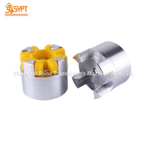 Aluminum & Steel Elastic Jaw Coupling for Shaft Connection pictures & photos