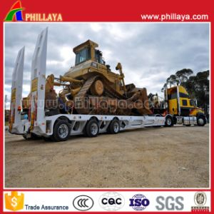 3 Axles Low Bed Trailer for Excavator Transportation pictures & photos