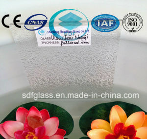 3 to 8mm Patterned/Figured/Rolled/Embossed/Knurling Glass with Ce, ISO pictures & photos