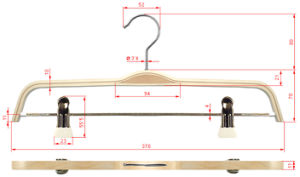 Bendable Laminated Zara Style Wooden Display Coat Hanger pictures & photos