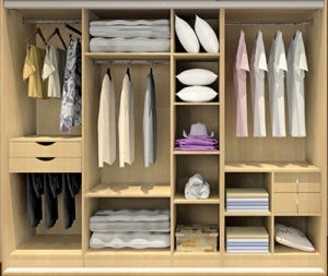 how to put clothes in bultin wardrobes