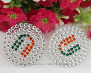 Custom Round Shape Reel Self Adhesive Rhinestone Strass Crystal Sheets Stickers (TP-125) pictures & photos